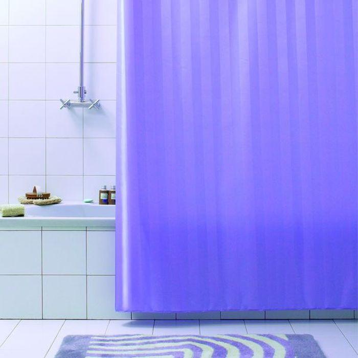 Штора для ванной Bacchetta Rigone, цвет: лиловый, 180 х 200 см3641Текстильная штора для ванной в универсальном дизайне от производителя с мировым именем Bacchetta. Выполнена штора из высококачественного полиэстера, штора однотонная в приятном пастельном оттенке с жаккардовым рисунком, который формируется за счет изменения направления нитей, поэтому достигается эффект шелкового перелива одних элементов рисунка и матовость других. Штора имеет водоотталкивающую и антибактериальную пропитку, которая препятствует появлению на шторе плесени и других вредных грибков. Штора оснащена утяжелителем, который вшит по нижнему краю, и не позволяет шторе подниматься от потоков воздуха, создаваемых напором воды. Верхний край шторы усилен двойным подворотом ткани, люверсы для колец выполнены из пластика, это исключает появление ржавчины в помещении с повышенной влажностью, что часто встречается при использовании металлических деталей. Технология производства изделий отвечает новейшим европейским стандартам. Полотна отличаются высочайшими качественными характеристиками: высокими показателями износостойкости, цветостойкости и цветопередачи, прочности ткани на разрыв. Штора со временем не выцветает, а рисунок не вымывается. В комплекте со шторой предусмотрено 12 пластиковых колец. Допускается деликатная стирка при температуре не более 30 С, штора быстро сохнет.