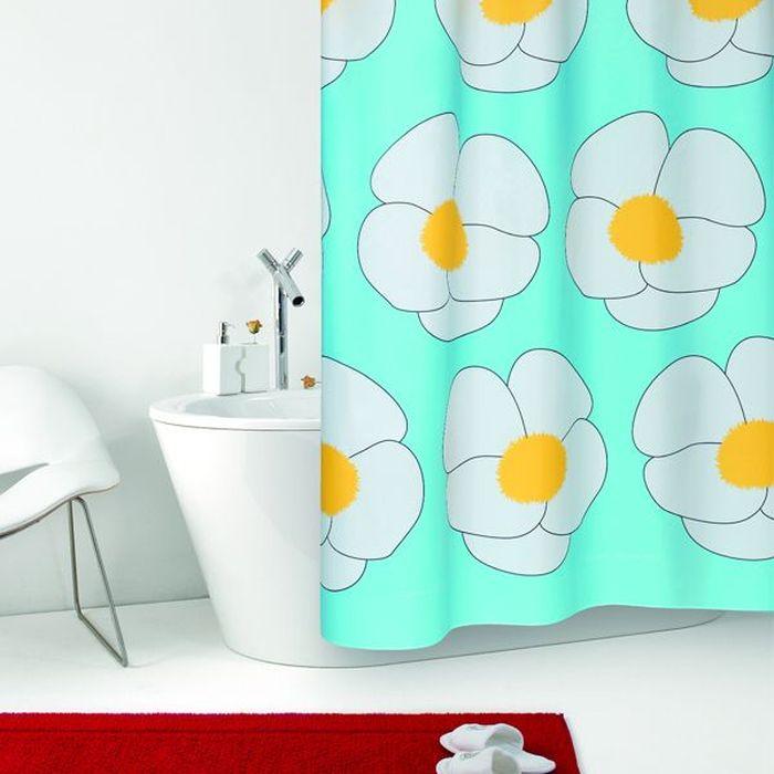 Текстильная штора для ванной в стильном дизайне от производителя с мировым именем Bacchetta. Выполнена штора из высококачественного полиэстера с водоотталкивающей и антибактериальной пропиткой, которая препятствует появлению на шторе плесени и других вредных грибков. Штора оснащена утяжелителем, который вшит по нижнему краю, и не позволяет шторе подниматься от потоков воздуха, создаваемых напором воды. Верхний край шторы усилен двойным подворотом ткани, люверсы для колец выполнены из пластика, это исключает появление ржавчины в помещении с повышенной влажностью, что часто встречается при использовании металлических деталей. Технология производства изделий отвечает новейшим европейским стандартам. Полотна отличаются высочайшими качественными характеристиками: высокими показателями износостойкости, цветостойкости и цветопередачи, прочности ткани на разрыв. Штора со временем не выцветает, а рисунок не вымывается.  В комплекте со шторой предусмотрено 12 пластиковых колец.  Допускается деликатная стирка при температуре не более 30°С, штора быстро сохнет.