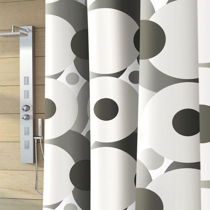 Штора для ванной Bacchetta Galaxy, цвет: серый, белый, 180 х 200 см4080Влагонепроницаемая, надежная, долговечная и практичная штора для ванной от производителя с мировым именем Bacchetta. Выполнена штора из высококачественного ПВХ. Технология производства изделий отвечает новейшим европейским стандартам. Полотна отличаются высочайшими качественными характеристиками: высокими показателями износостойкости, прочности, цветостойкости и цветопередачи. Печатный рисунок выполнен таким образом, что создает визуальную иллюзию объемного изображения, что очень оригинально и стильно выглядит ванной комнате любого размера, особенно в небольшой, так как рисунок визуально изменяет ощущение пространства. Штора обладает высокой прочностью, в комплекте предусмотрено 12 пластиковых колец. Штора со временем не выцветает, а рисунок не вымывается. Изделие легко моется и быстро сохнет.