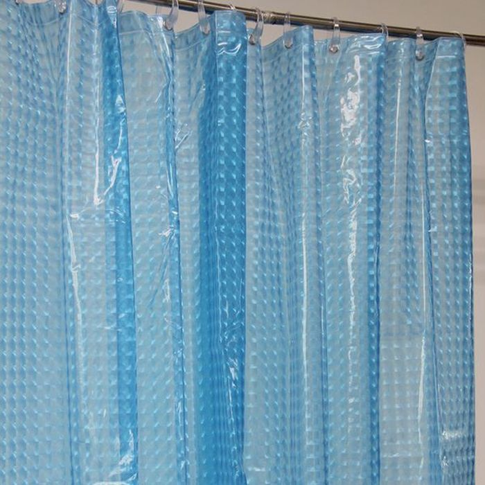 Штора для ванной Dasch La Vita 3D, цвет: синий, 180 х 200 см. A023 - 90014550Влагонепроницаемая, надежная, долговечная и практичная штора для ванной La Vita. Выполнена штора из высококачественного ПВХ. Технология производства изделий отвечает новейшим европейским стандартам. Полотна отличаются высочайшими качественными характеристиками: высокими показателями износостойкости, прочности, цветостойкости и цветопередачи. Рисунок выполнен по технологии 3D, что создает визуальное ощущение объемности орнамента, это очень оригинально и стильно выглядит в ванной комнате любого размера, особенно в небольшой, так как рисунок визуально изменяет ощущение пространства. Штора обладает высокой прочностью и плотностью, толщина полотна 0,2 мм. В комплекте предусмотрено 12 пластиковых колец. Штора со временем не выцветает, а рисунок не вымывается. Изделие легко моется и быстро сохнет.