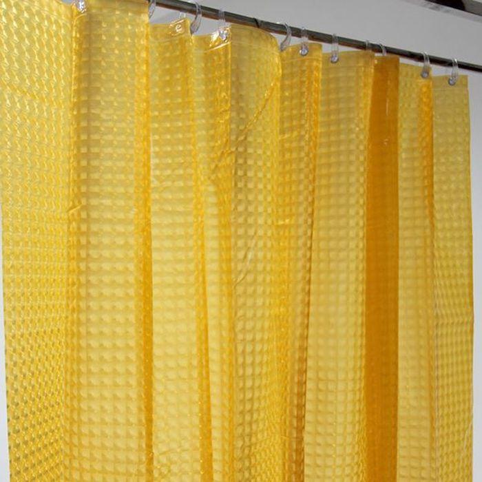 Штора для ванной Dasch La Vita 3D, цвет: оранжевый, 180 х 200 см. A023 - 60004558Влагонепроницаемая, надежная, долговечная и практичная штора для ванной La Vita. Выполнена штора из высококачественного ПВХ. Технология производства изделий отвечает новейшим европейским стандартам. Полотна отличаются высочайшими качественными характеристиками: высокими показателями износостойкости, прочности, цветостойкости и цветопередачи. Рисунок выполнен по технологии 3D, что создает визуальное ощущение объемности орнамента, это очень оригинально и стильно выглядит в ванной комнате любого размера, особенно в небольшой, так как рисунок визуально изменяет ощущение пространства. Штора обладает высокой прочностью и плотностью, толщина полотна 0,2 мм. В комплекте предусмотрено 12 пластиковых колец. Штора со временем не выцветает, а рисунок не вымывается. Изделие легко моется и быстро сохнет.