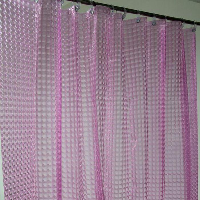 Штора для ванной Dasch La Vita 3D, цвет: розовый, 180 х 200 см. A023 - 50014562Влагонепроницаемая, надежная, долговечная и практичная штора для ванной La Vita. Выполнена штора из высококачественного ПВХ. Технология производства изделий отвечает новейшим европейским стандартам. Полотна отличаются высочайшими качественными характеристиками: высокими показателями износостойкости, прочности, цветостойкости и цветопередачи. Рисунок выполнен по технологии 3D, что создает визуальное ощущение объемности орнамента, это очень оригинально и стильно выглядит в ванной комнате любого размера, особенно в небольшой, так как рисунок визуально изменяет ощущение пространства. Штора обладает высокой прочностью и плотностью, толщина полотна 0,2 мм. В комплекте предусмотрено 12 пластиковых колец. Штора со временем не выцветает, а рисунок не вымывается. Изделие легко моется и быстро сохнет.