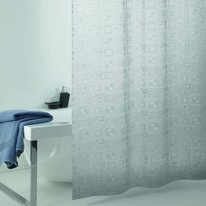 Штора для ванной Bacchetta Quadro perlescente, цвет: прозрачный, 240 х 200 см quadro сумки