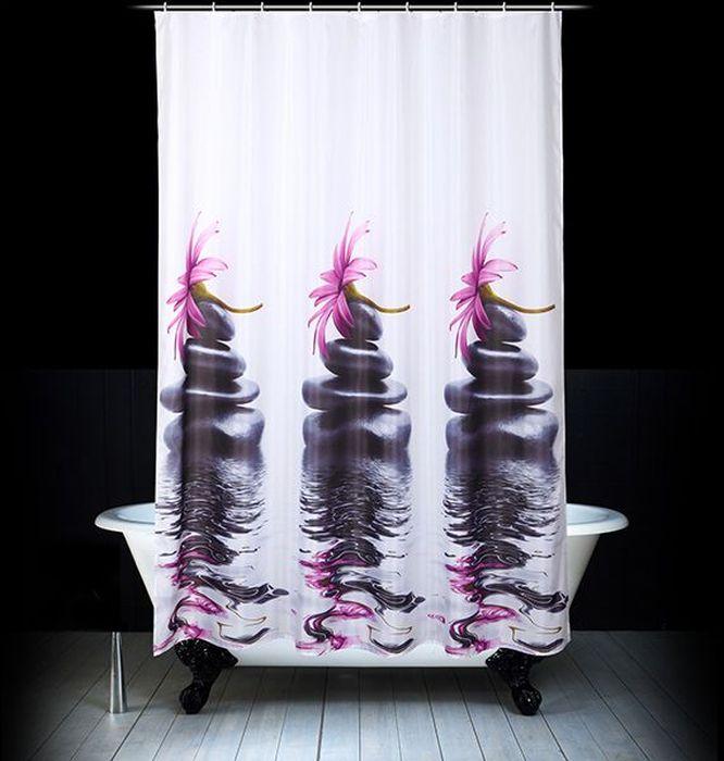 Штора для ванной Dasch Дзен, цвет: мультиколор, 180 х 200 см комплект ковриков для ванной и туалета dasch ромбы