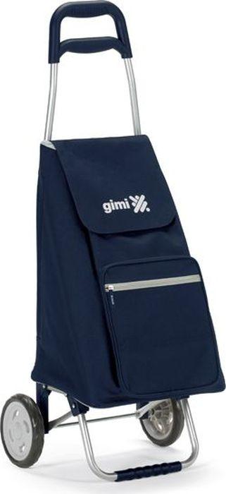 """Универсальная и практичная хозяйственная сумка-тележка """"Gimi"""" имеет каркас из стали. Сумка выполнена из прочного и надежного материала (полиэстер) с влагоустойчивым покрытием. Сумка закрывается на """"кулиску"""", оснащена карманом на молнии, ручка тележки с пластиковой накладкой для удобного использования. Емкость сумки 45 л и грузоподъемность 30 кг позволят разместить большое количество покупок и с удобством транспортировать их. Эта сумка-тележка навсегда заменит привычные сумки с ручками и пакеты из супермаркета."""