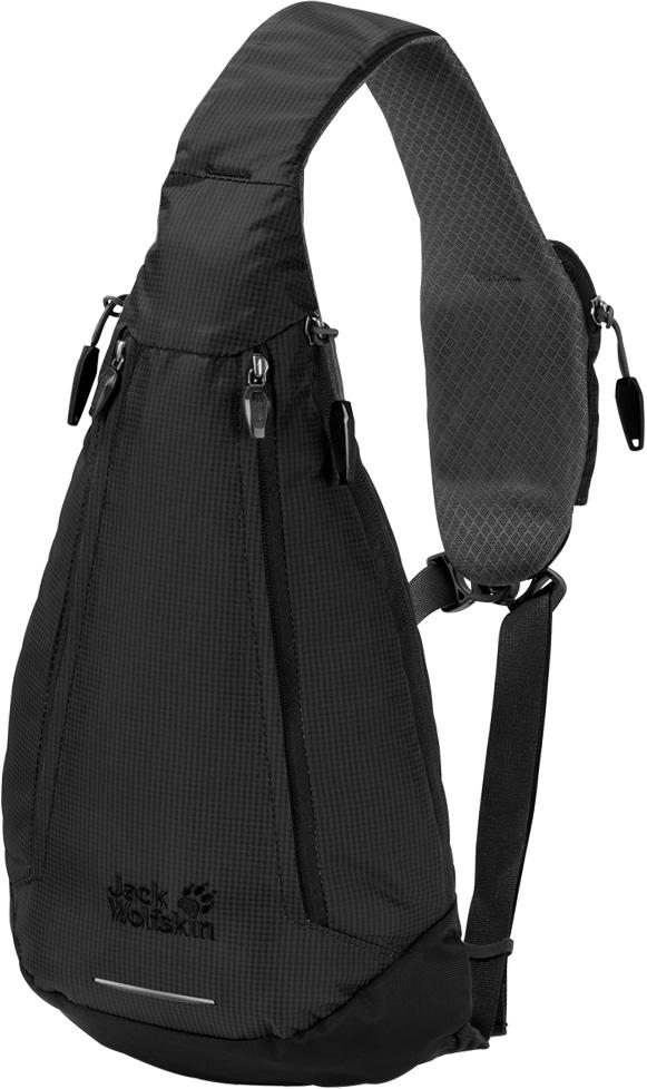 Рюкзак Jack Wolfskin Delta Bag, цвет: черный, 4 л. 2006011-60002006011-6000Рюкзак Jack Wolfskin Delta Bag - симметричная сумка-слинг для путешествий, отдыха и на каждый день. Если каждый ваш день приносит новые маршруты для прогулок - по городу, вокруг квартала или вдоль реки, сумка Delta Bag создана для вас. Симметричный трендовый рюкзак удобен тем, что его можно носить на любом плече. А молнии с обеих сторон рюкзака позволяют легко его открыть и достать все, что нужно - вне зависимости от выбранного вами способа ношения. Чтобы ваш смартфон всегда был под рукой, на ремне есть специальный карман.Рюкзак Jack Wolfskin Delta Bag позволит вам двигаться в ритме большого города. Инновационная система застежек соединяет все три ремня и не позволяет рюкзаку соскользнуть. В целях безопасности на дороге, в комплект входит складная светоотражающая деталь.