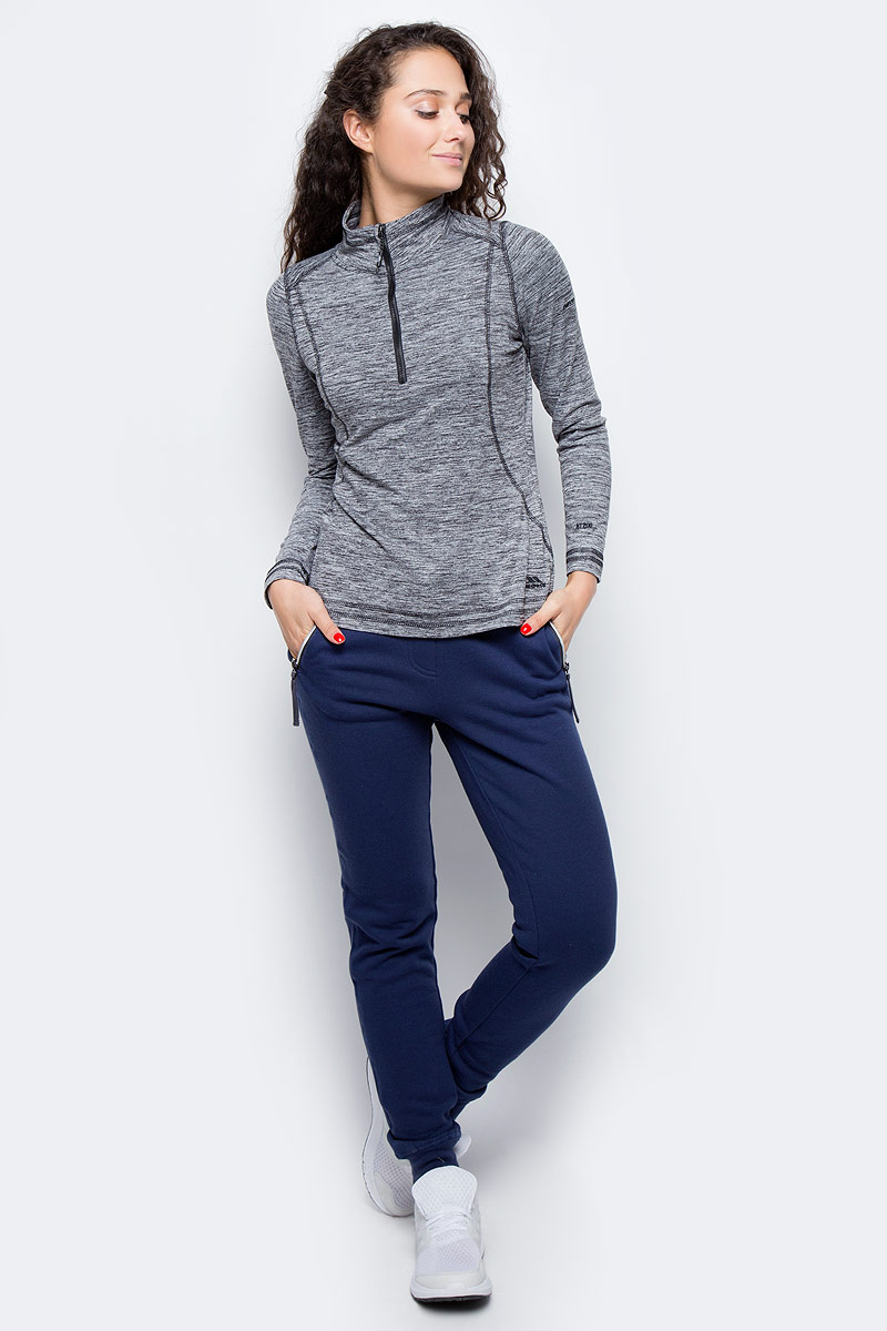 Толстовка женская Trespass Isha, цвет: серый. FAFLFLM10002. Размер XL (50) пижама женская kris line kylie цвет серый сиреневый размер xl 50 52