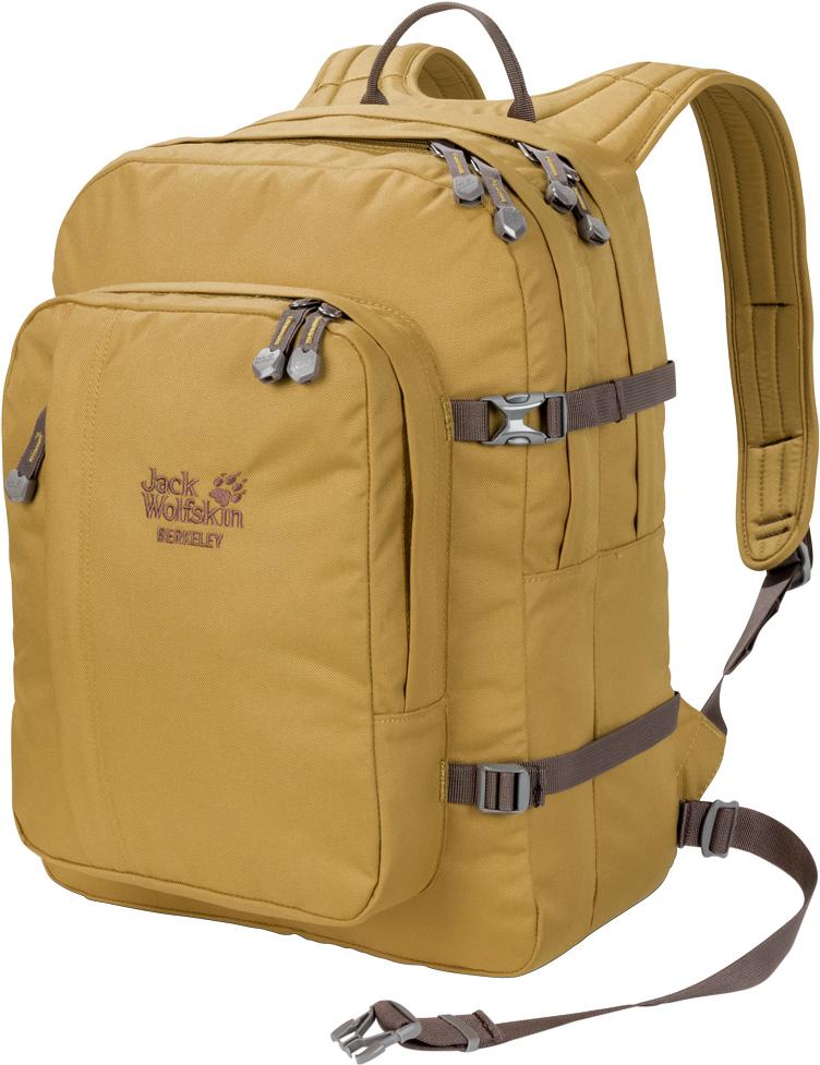 Рюкзак Jack Wolfskin Berkeley, цвет: желтый, 30 л. 25300-520525300-5205Рюкзак Jack Wolfskin Berkeley - просторный студенческий рюкзак в классическом стиле с отделениями для документов формата А4.. Для учебы, офиса и путешествий - классика, проверенная временем. Надежный, исключительно удобный и износостойкий, он сочетает в себе одновременно вместительность и компактность. Эта модель рюкзака разработана специально для книг, документов и папок формата А4.В двух основных отделениях для них достаточно места. Рюкзак Berkeley также сможет вместить ваши покупки или снаряжение для небольшого похода. Он также невероятно удобен благодаря особой подвесной системе Snuggle Up с равномерным распределением нагрузки и широкими лямками.