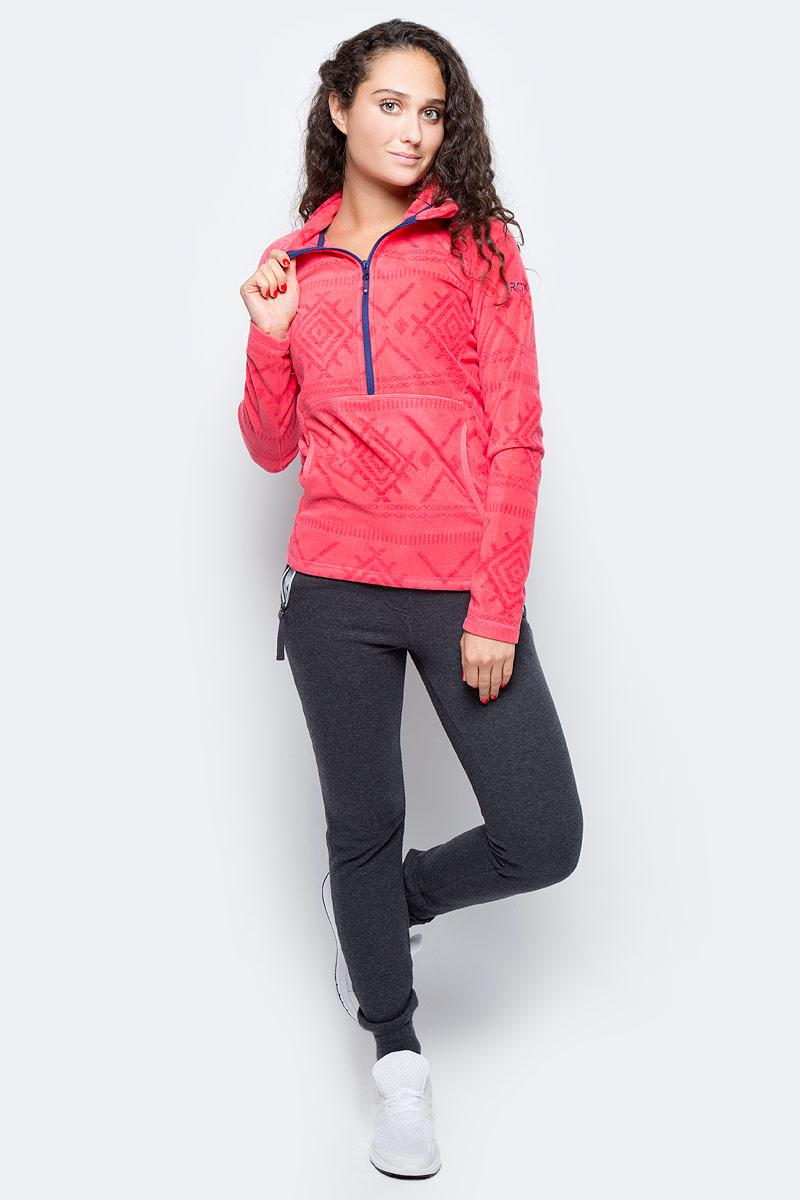 Толстовка женская Roxy Cascade, цвет: розовый. ERJFT03310-MLR4. Размер M (44/46)ERJFT03310-MLR4Толстовка выполнена из высококачественного материала, отделка из лайкры. Карманы с теплой подкладкой.Плоская декоративная строчка.Скругленная линия подола.