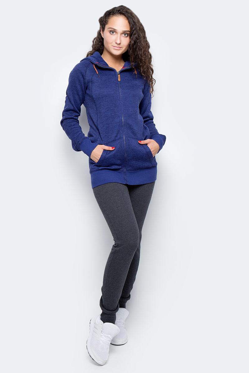Толстовка женская Roxy Resin Knit, цвет: синий. ERJFT03316-BSQ0. Размер L (46/48)ERJFT03316-BSQ0Женская толстовка с фиксированным капюшоном на утяжке выполнена из высококачественного материала..Карманы с теплой подкладкой.Плоская декоративная строчка.