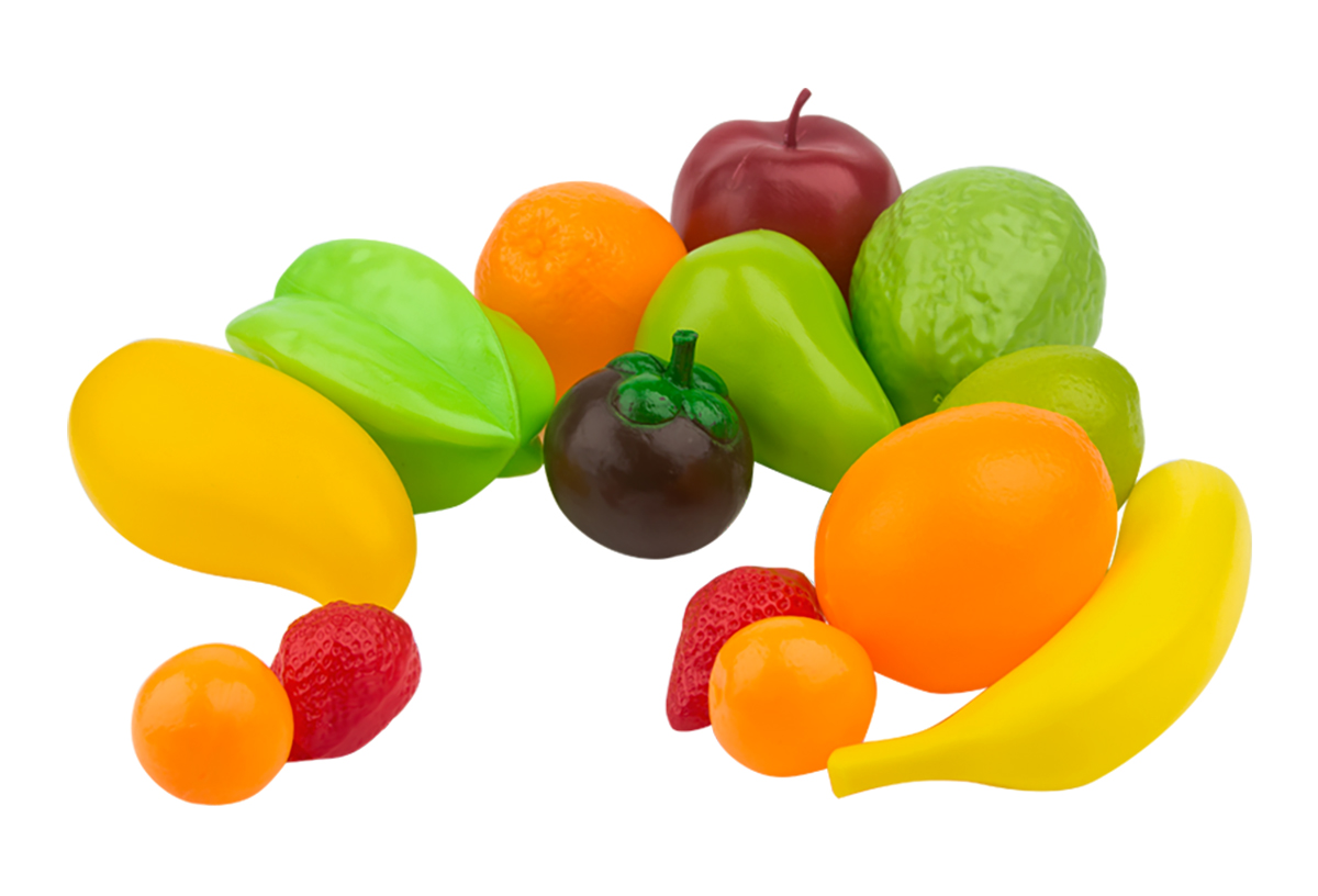 EstaBella Игровой набор Овощи и фрукты Главные продукты 14 элементов наборы для творчества фабрика фантазий набор для создания фигурок из гипса на магнитах фрукты и овощи