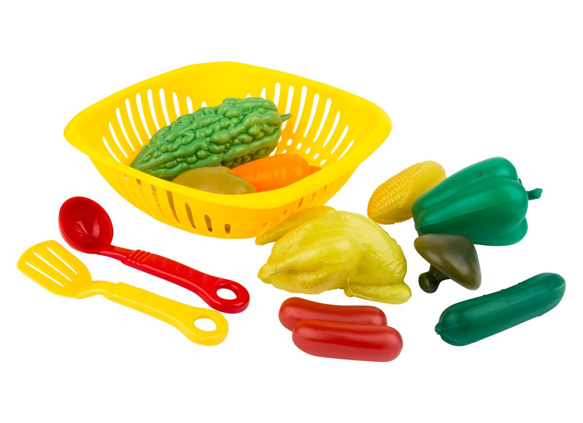 EstaBella Игровой набор Овощи и фрукты с шумовками наборы для творчества фабрика фантазий набор для создания фигурок из гипса на магнитах фрукты и овощи