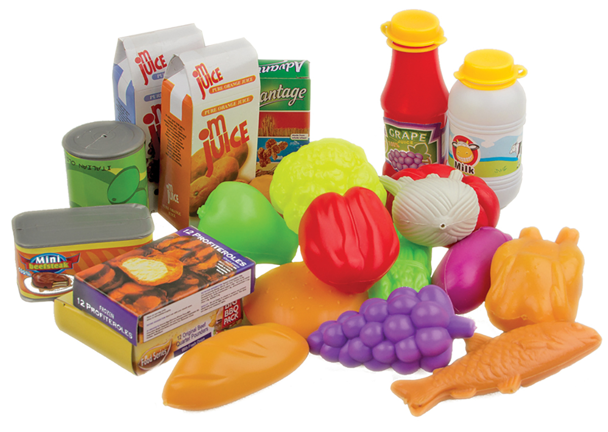 EstaBella Игровой набор Большая корзина Разные продукты овощи и фрукты