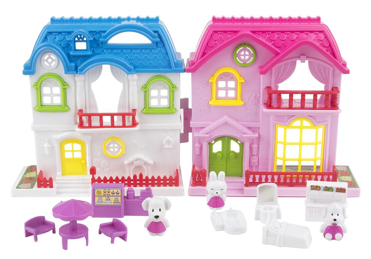 EstaBella Кукольный домик Солнечный городок улица Зеленая дом 3 с мебелью и жителями э цюрупа улица зеленая