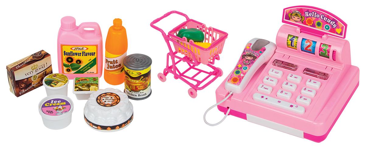 EstaBella Игровой набор Мини-супермаркет с тележкой