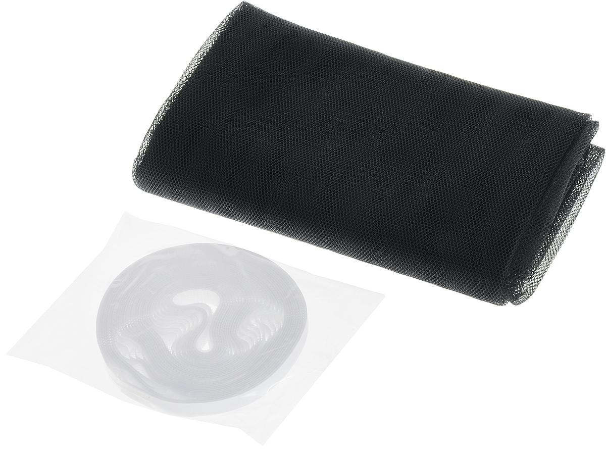 """Оконная противомоскитная сетка """"Help"""", выполненная из полиэстера, предназначена для защиты помещения от проникновения летающих насекомых, а также служит фильтром от попадания в помещение пыли и пуха. Подходит для любых типов окон. Устойчива к ультрафиолетовым лучам, легко стирается и устанавливается. Установка занимает несколько минут, благодаря крепежной нейлоновой ленте с клеевой основой. При снятии ленты на поверхности не остается следов клея. При правильном использовании москитная сетка прослужит вам долгое время."""