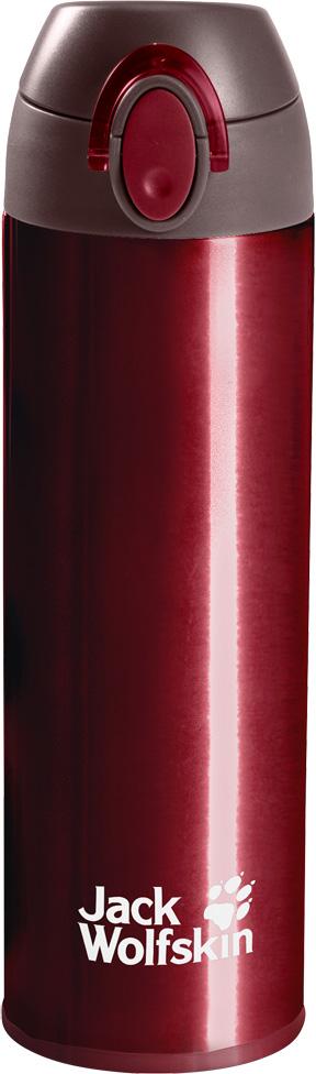 Термос Jack Wolfskin Thermolite Bottle 0,5, цвет: бордовый, 0,5 л. 8006041-21508006041-2150Легкий термос с двойными стенками и эргономичным горлышком. Термос Jack Wolfskin Thermolite Bottle сохранит ваш чай горячим целый день. И вам даже не понадобится брать с собой кружку. Поскольку у термоса имеется удобное горлышко, из которого можно пить. Конструкция из двух стенок имеет минимальный вес и сохраняет нужную температуру вашего любимого напитка. Благодаря такой конструкции, термос очень легко мыть.Объем: 500 мл.