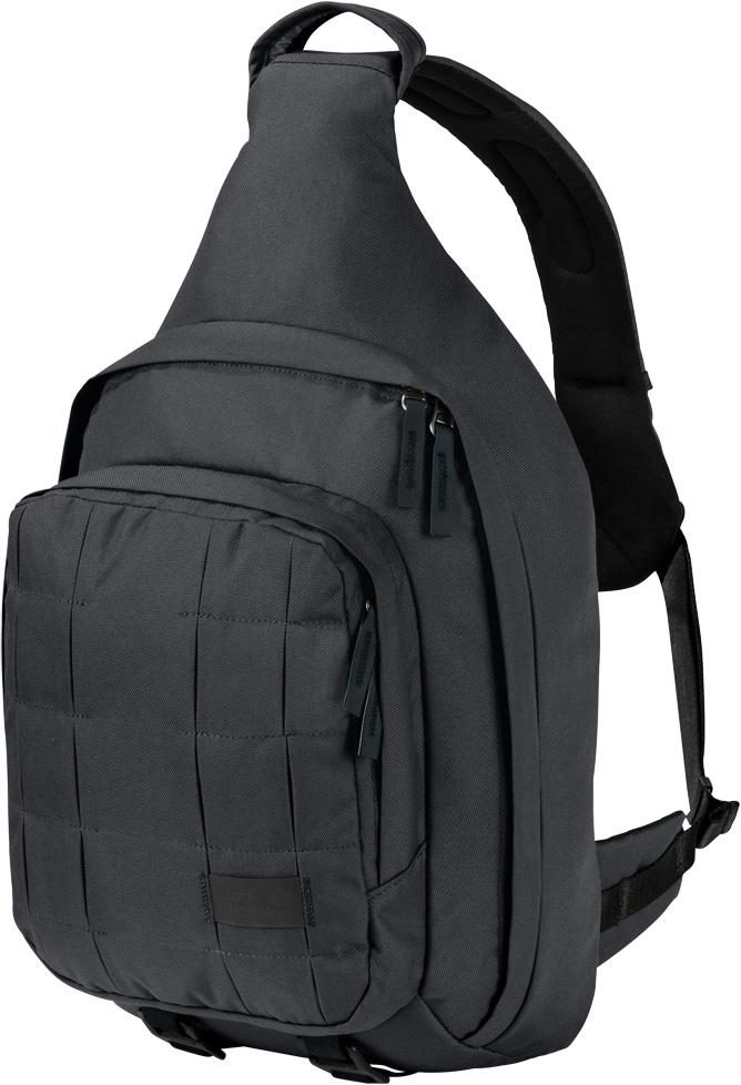 Рюкзак Jack Wolfskin Trt 10 Bag, цвет: темно-серый, 10 л. 2005911-63502005911-6350Рюкзак Jack Wolfskin Trt 10 Bag - симметричный рюкзак через плечо с тремя ремнями, соединенными системой застежек. Симметричный, стильный, практичный. Рюкзак Jack Wolfskin Trt 10 Bag можно одинаково удобно носить как на правом, так и на левом плече. Его можно удобно открыть с обеих сторон, а специальная тройная система застежек позволяет рюкзаку не соскальзывать во время путешествий на велосипеде или во время быстрого движения.Рюкзак Trt 10 Bag - прочный, выносливый, технологичный - новая линейка рюкзаков, предназначенных для технарей, которые предпочитают многофункциональные вещи, сделанные на совесть. А еще сумка оснащена инновационной системой петель для подвешивания снаряжения.Отличительной чертой рюкзака является инновационная система модульных петель для подвешивания снаряжения. Петли для подвешивания снаряжения частично спрятаны между складок ткани на фронтальной стороне рюкзака, откуда их можно вытянуть при необходимости. А еще каждая петля выполняет функцию светоотражателя. Даже в сложенном состоянии они сделают вас более заметным на дороге в темное время суток.Ваше снаряжение для городских джунглей удобно разместится в основном и переднем отделениях сумки. Еще одна важная деталь - это съемная лента для ключей с открывашкой для бутылки.Объем: 10 л.