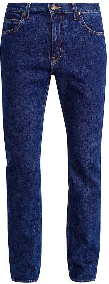Джинсы мужские Lee, цвет: синий. L70144ZT. Размер 30-32 (46-32)L70144ZTМужские джинсы от Lee выполнены из натурального хлопка. Прямая модель имеет классический пятикарманный крой: спереди - два втачных кармана и один маленький кармашек, сзади - два накладных кармана. Джинсы в поясе застегивается на пуговицу, имеются ширинка на молнии и шлевки для ремня.