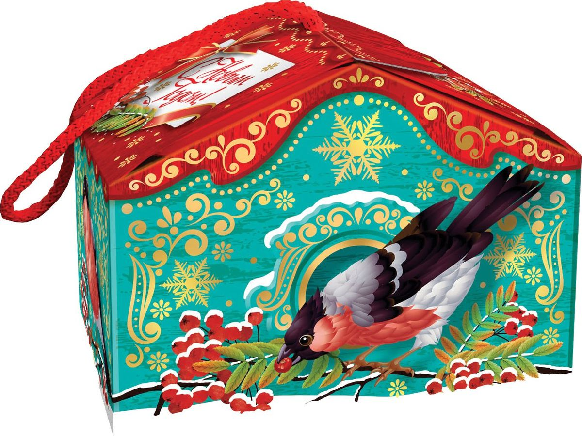Сладкий новогодний подарок Птичий домик, 300 г1540Новогодние подарки в картонной упаковке считаются самыми популярными для поздравления детей в детских садах и школах, и с каждым годом остаются лидерами продаж. Сладкий Новогодний подарок  Птичий домик  300 гр. очарует любого малыша своей яркой,