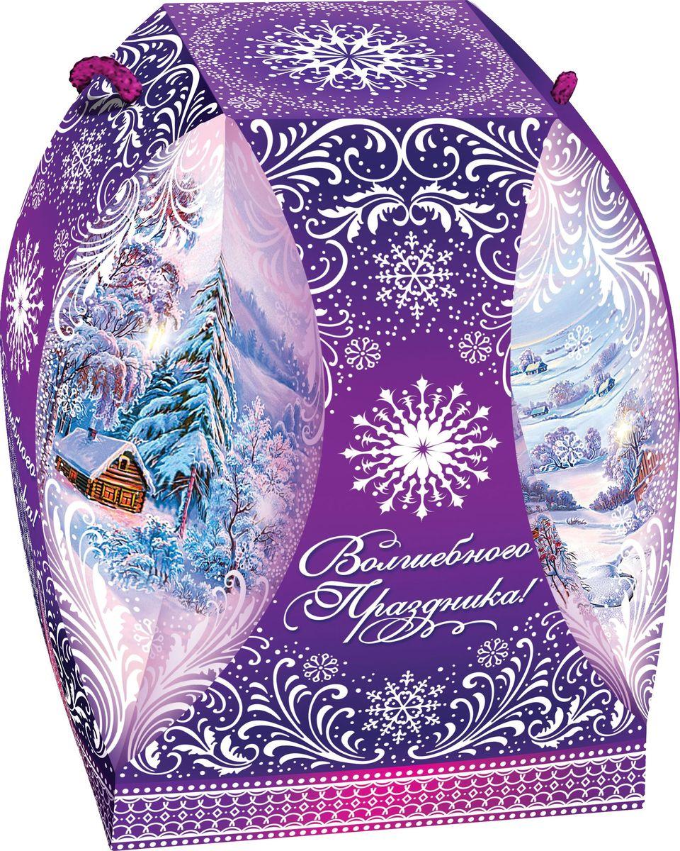 Сладкий новогодний подарок Зимняя сказка (Фиолетовый), 500 г1544Новогодние подарки в картонной упаковке считаются самыми популярными для поздравления детей в детских садах и школах, и с каждым годом остаются лидерами продаж. Сладкий Новогодний подарок  Зимняя сказка  500 гр. очарует любого малыша своей яркой,