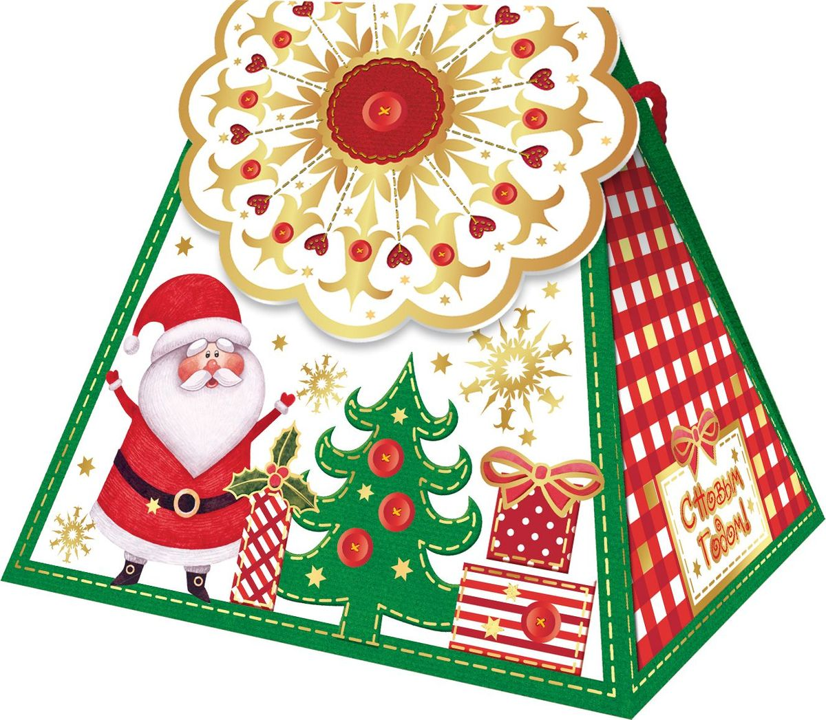 Сладкий новогодний подарок Сумочка-снежинка, 500 г1547Новогодние подарки в картонной упаковке считаются самыми популярными для поздравления детей в детских садах и школах, и с каждым годом остаются лидерами продаж. Сладкий Новогодний подарок  Сумочка-снежинка  500 гр. очарует любого малыша своей яркой, разноцветной упаковкой, а прекрасно подобранный состав кондитерских изделий от самых известных производителей позволит в полной мере насладиться праздником. Прекрасный вариант поздравления детей на утренниках в детских садах и школахУважаемые клиенты! Обращаем ваше внимание на возможные изменения в дизайне упаковки. Качественные характеристики товара остаются неизменными. Поставка осуществляется в зависимости от наличия на складе.