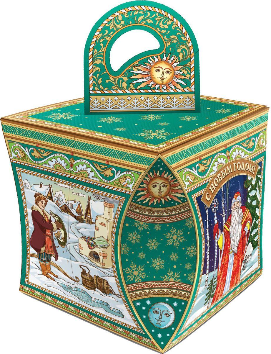 Сладкий новогодний подарок Кубик Русские сказки, 800 г1553Новогодние подарки в картонной упаковке считаются самыми популярными для поздравления детей в детских садах и школах, и с каждым годом остаются лидерами продаж. Сладкий Новогодний подарок  Русские сказки  800 гр. очарует любого малыша своей яркой,