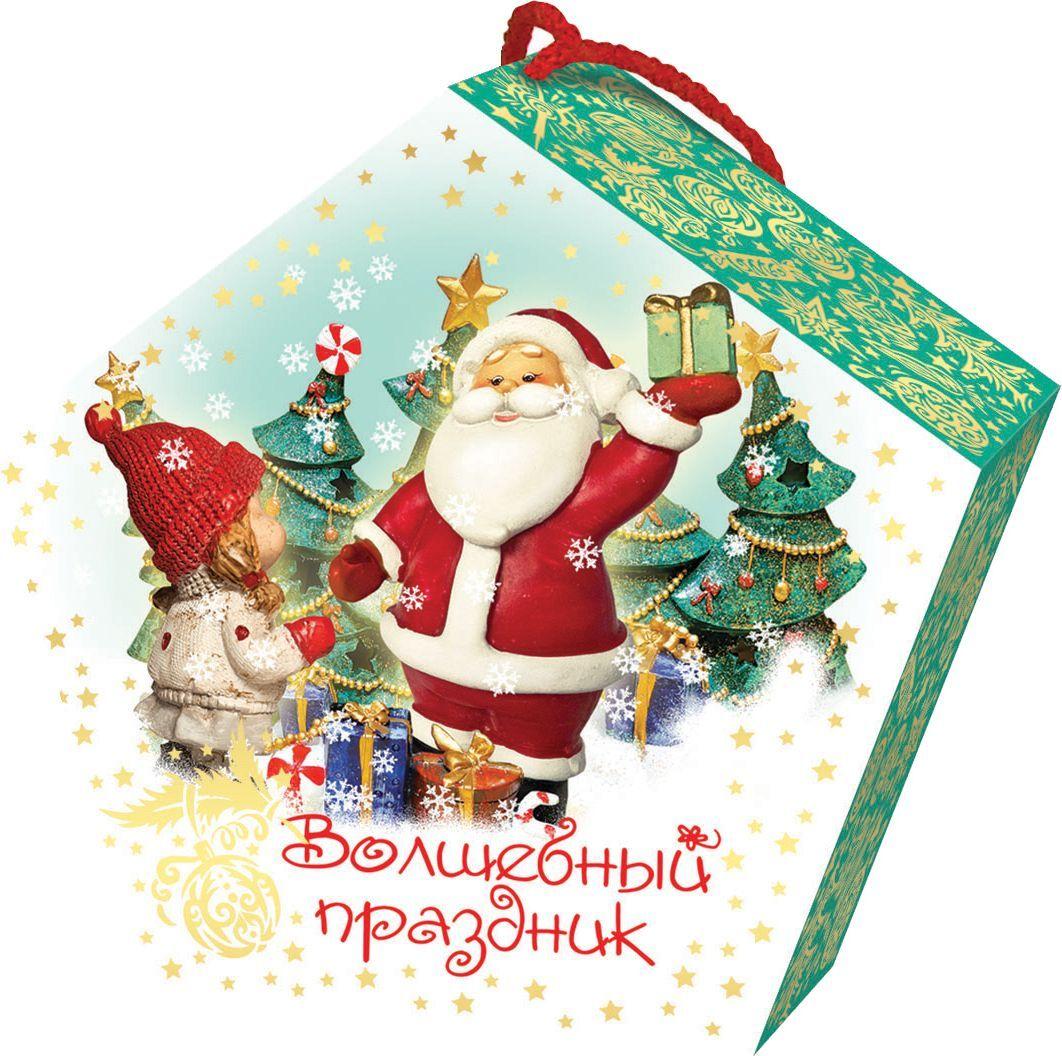 Сладкий новогодний подарок Волшебный праздник (Дед Мороз), 500 г сладкая сказка печенье дед мороз и снегурочка 400 г