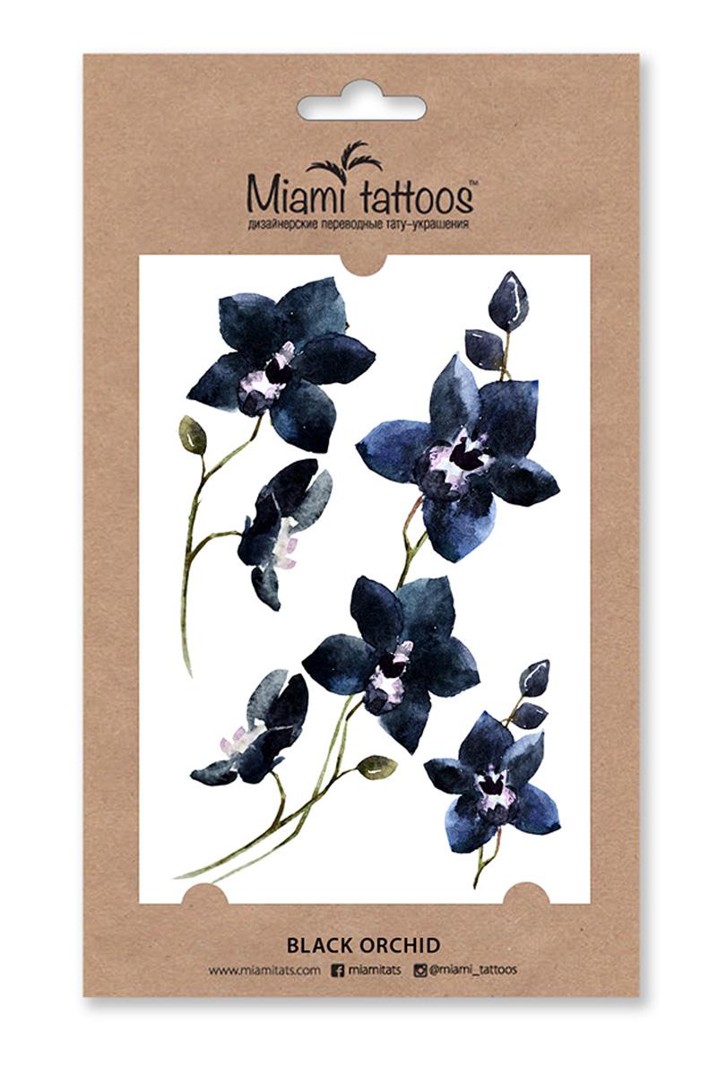 Miami Tattoos Акварельные переводные тату Black Orchid, 1 лист, 10 х 15 смMT0066Акварельные переводные татуировки - тренд последнего сезона, который задают всемирно известные татуировщицы Sasha Unisex, Pissaro, Ritkit. Черная орхидея Black Orchid - драматичный и загадочный цветок, окутанный магией обольщения. Яркий и призывный на ключице или едва заметный, выходящий из-под рубашки или платья - он придаст образу чувственности. Переводилки Miami Tattoos наносятся за минуту с помощью воды, а продержатся несколько дней.