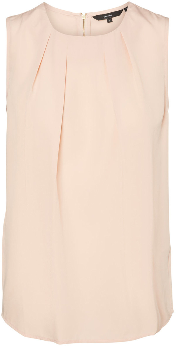 Блузка женская Vero Moda, цвет: розовый. 10185857_Rose Cloud. Размер XS (40/42)10185857_Rose CloudБлузка женская Vero Moda с круглым вырезом горловины и без рукавов, сзади застегивается на молнию.