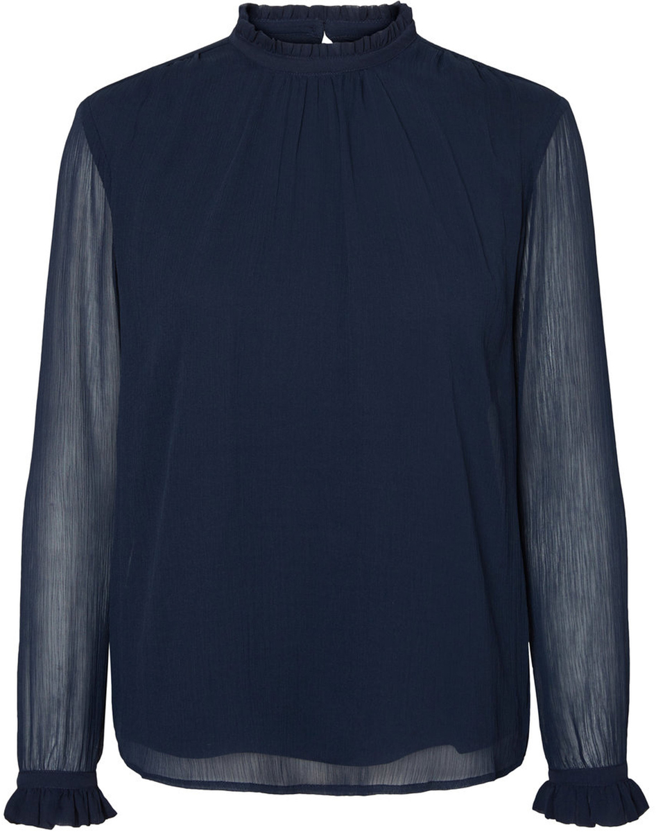 Блузка женская Vero Moda, цвет: синий. 10185949_Navy Blazer. Размер XS (40/42) блузка женская vero moda цвет черный 10186375 black размер xs 40 42