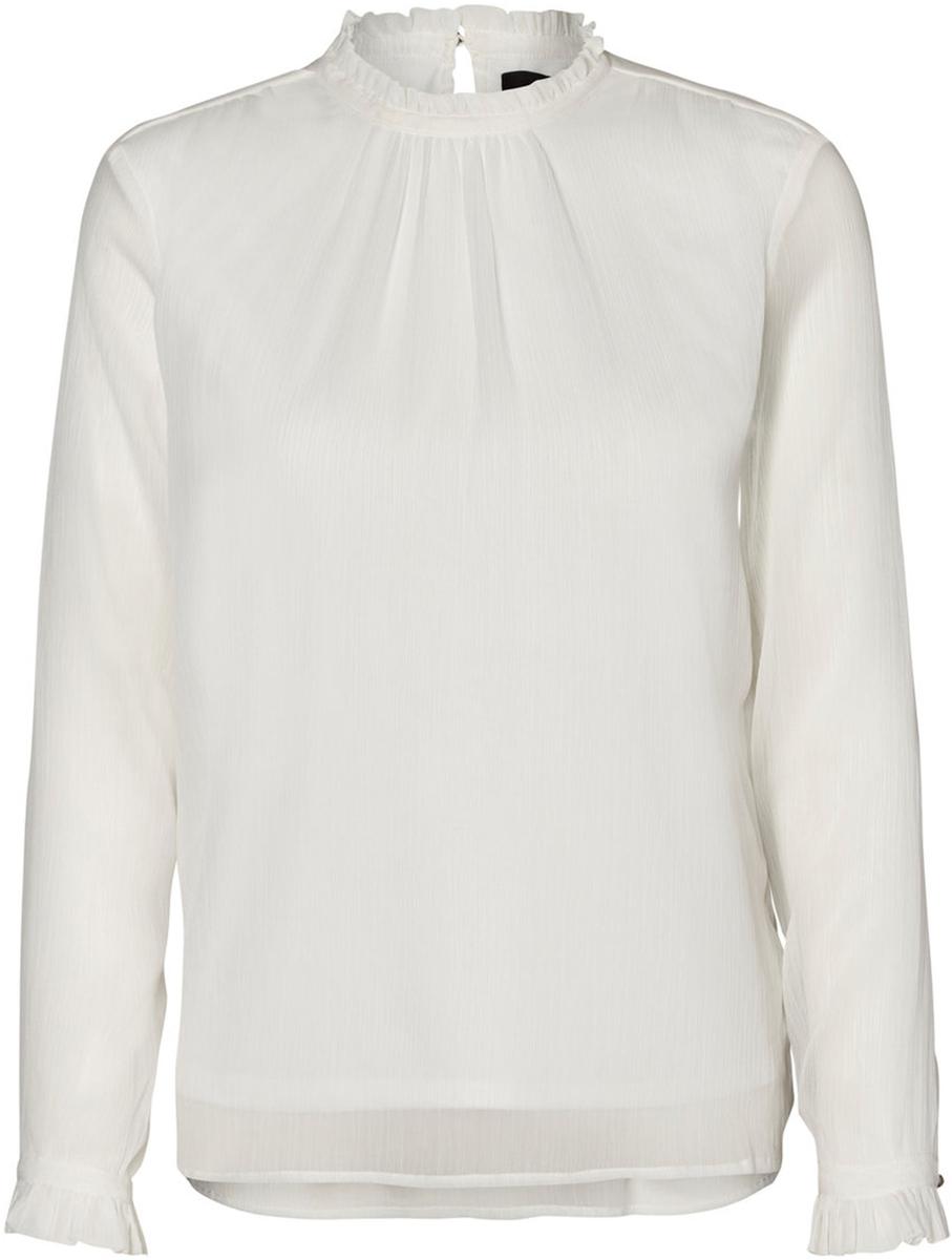 Блузка женская Vero Moda, цвет: белый. 10185949_Snow White. Размер M (46) футболка женская moodo цвет белый сиреневый серый l ts 2045 white размер m 46