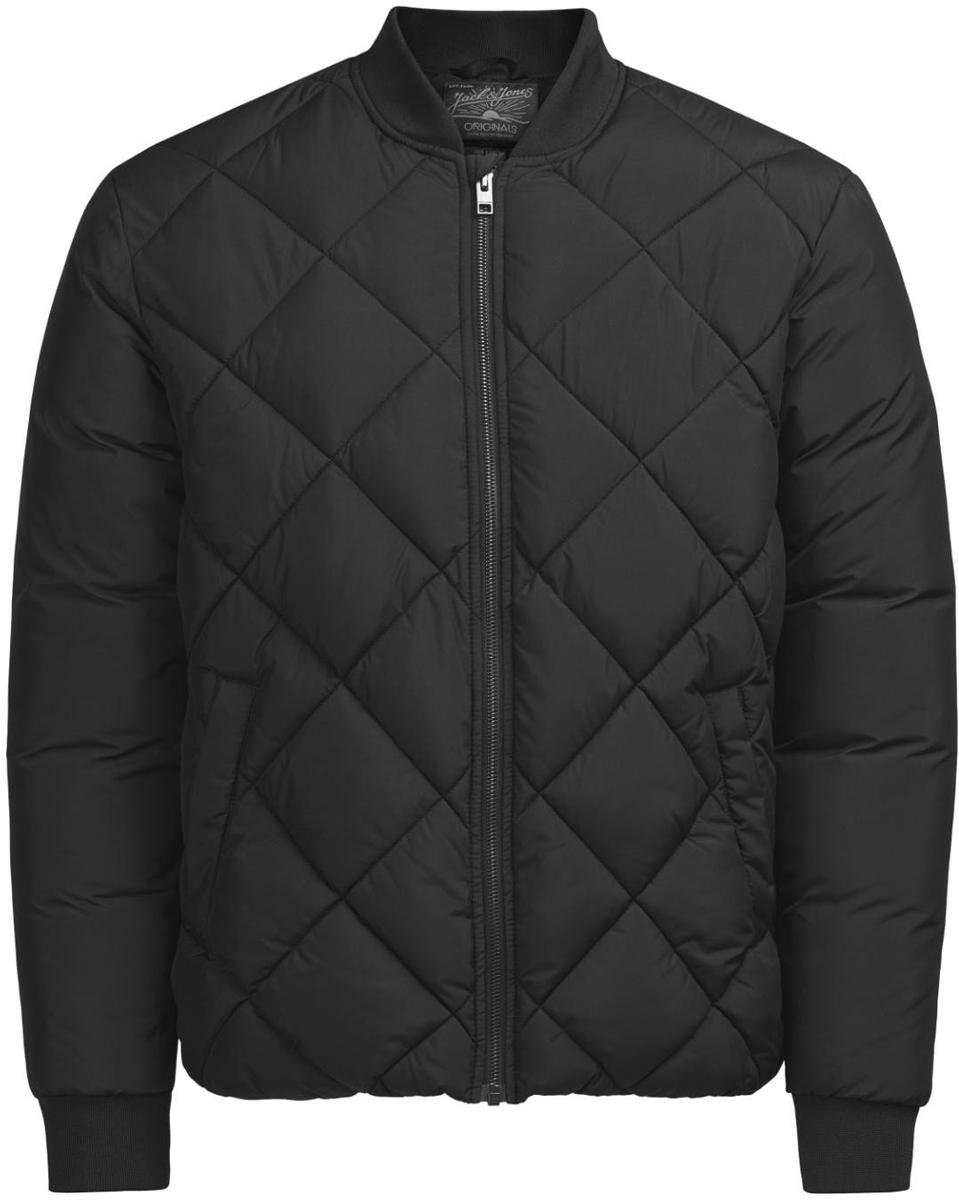 Куртка муж Jack & Jones, цвет: черный. 12124479_Black. Размер L (48/50)12124479_Black