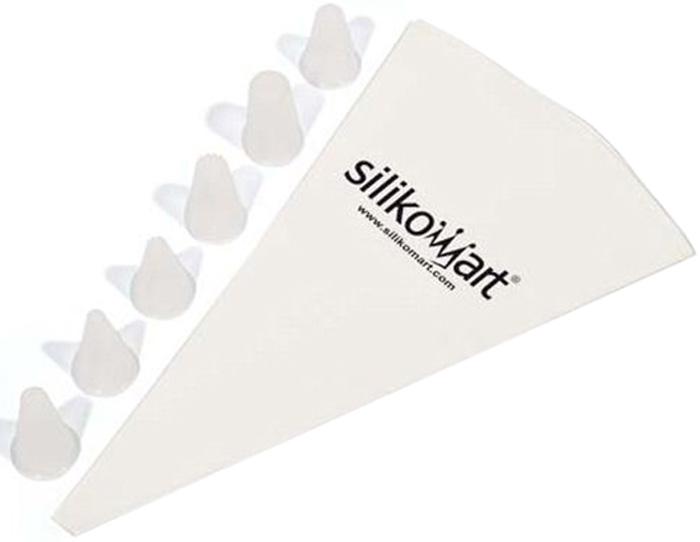 Кондитерский мешок Silikomart, с 6 насадкамиACC009/CКондитерский мешок с шестью насадками позволит с легостью украсить Ваши любимые десетры и закуски. Насадки позволят сделать из неповторимыми. Товар изготовлен из высококачественного материала.
