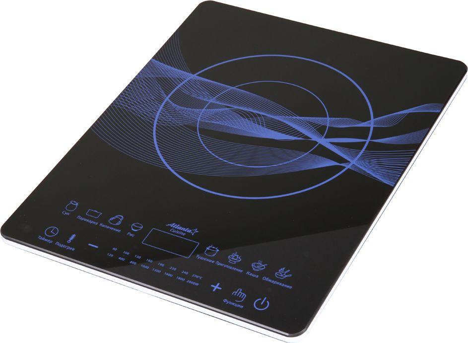Atlanta ATH-1753, Black плита индукционнаяATH-1753 blackСенсорное управлениеУдобные программы приготовленияИспользование высококачественного и надежного IGBT производства SiemensСверхширокий диапазон напряженияТаймер включения и выключенияФункция замера мощности и напряженияЗащита от перегреваМощность 2000 Вт230 B ~ 50 Гц