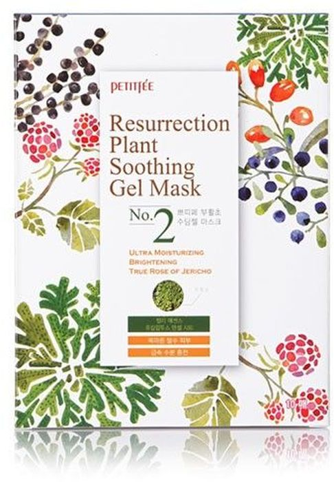 Petitfee Маска для лица тканевая иерихонская роза Resurrection Plant Soothing Gel Mask, 30 г resurrection plants hydrophile jericho rose plant