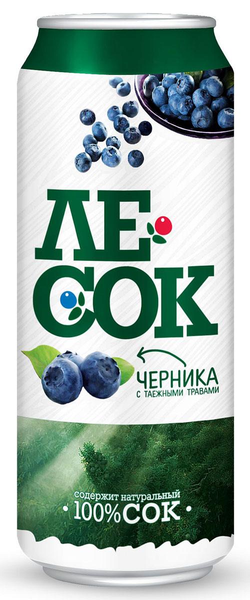 ЛеСок Черника газированный напиток, 0,5 л4601373004327Вкус кисло-сладкий, аромат таежных трав с нотами черники.