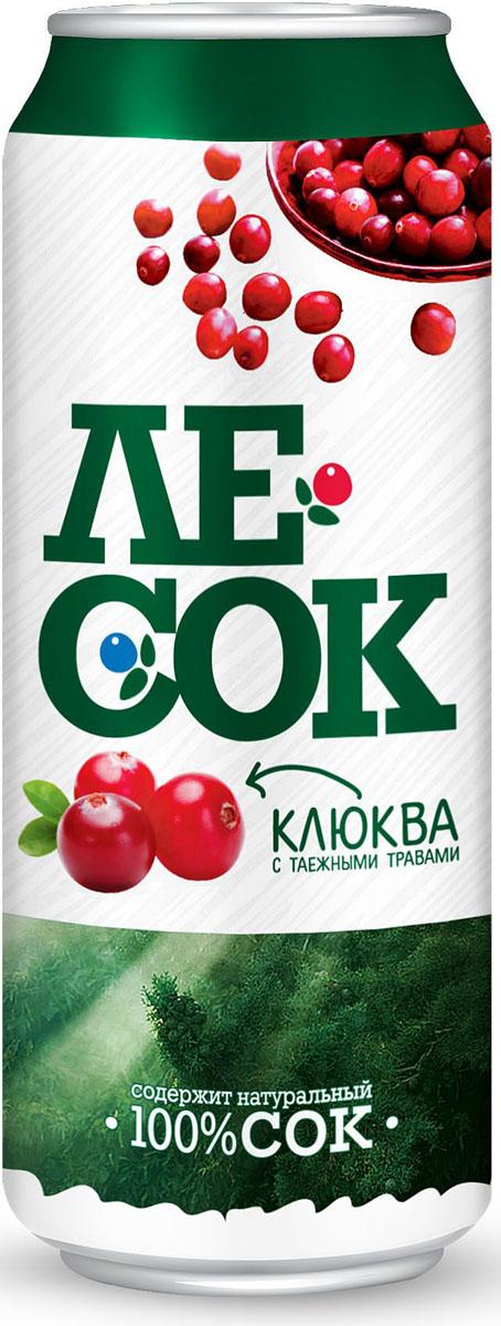 ЛеСок Клюква газированый напиток, 0,5 л4601373004334Вкус кисло-сладкий, аромат таежных трав с нотами клюквы.