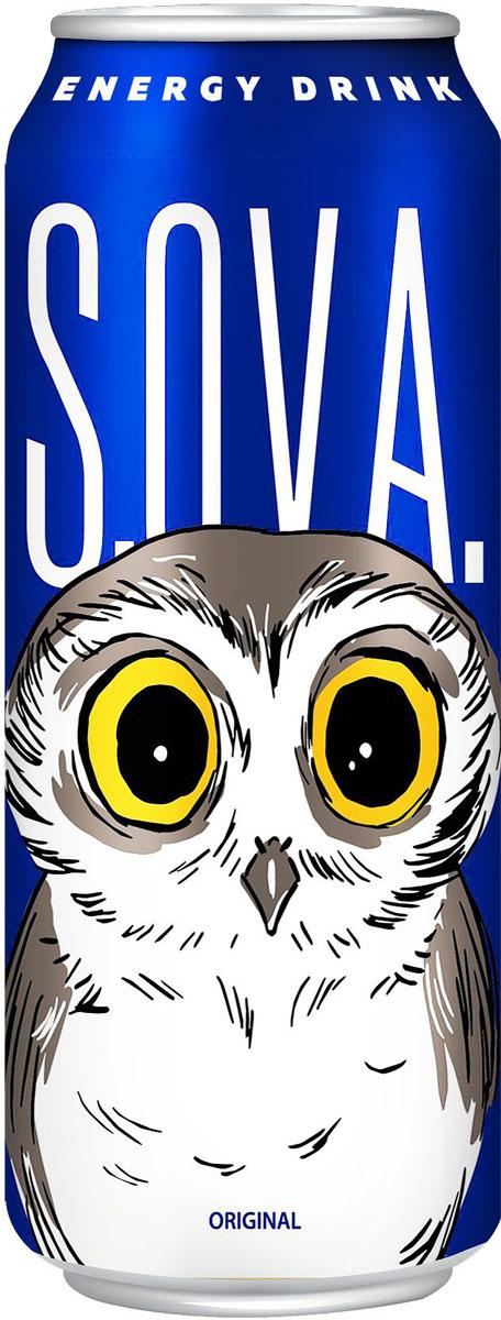 S.O.V.A Original энергетический напиток, 0,5 л4601373005256Вкус кисло-сладкий, аромат таежных трав с нотами клюквы.