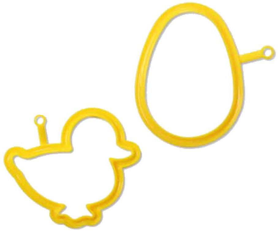 Набор для яичницы Silikomart Цыпленок. Яйцо, цвет: желтый, 2 штSET EGG03+EGG08Веселые формы для яичницы Silikomart скрасят даже хмурое утро понедельника и приведут в восторг ваших детей. Придайте омлетам, глазунье, оладьям или запеканке необычный вид, и даже самый капризный малыш не устоит перед таким лакомством! Формы из жидкого силикона выдерживают температуру от -60° до 230°С, могут использоваться в духовке, на сковороде и в микроволновой печи. Даже начинающие кулинары получат идеальный результат, пользуясь силиконовыми формами Silikomart.