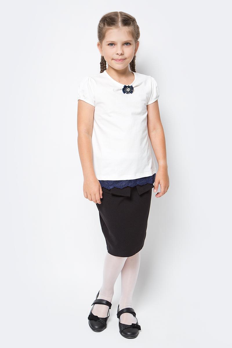 Блузка для девочки Nota Bene, цвет: молочный. SJR27048A17. Размер 122 цены онлайн