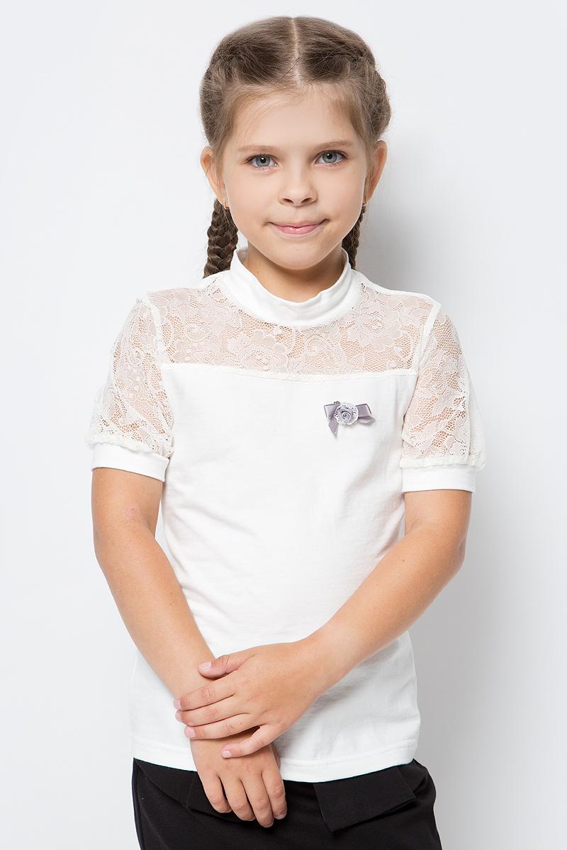 Блузка для девочки Nota Bene, цвет: молочный. CJR270433_17. Размер 140