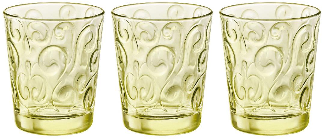 Набор стаканов Bormioli Rocco Наос Вода , цвет: желтый, 3 шт. 530333Q02321990