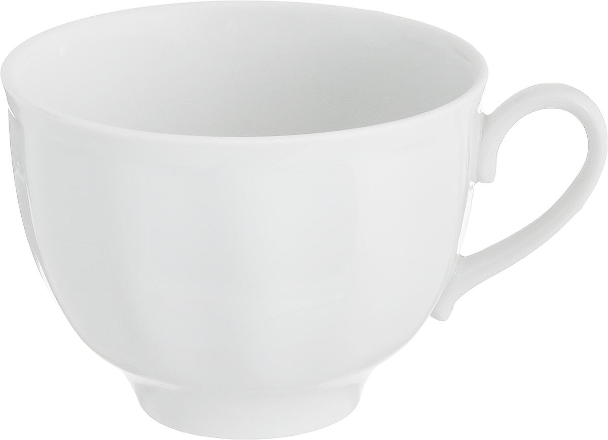 Кружка Дулевский Фарфор, 275 мл025252Кружка Дулевский Фарфор способна скрасить любое чаепитие. Изделие выполнено из высококачественного фарфора. Посуда из такого материала позволяет сохранить истинный вкус напитка, а также помогает ему дольше оставаться теплым. Кружка оснащена удобной ручкой.Диаметр по верхнему краю: 9,5 см.Высота кружки: 7,5 см.