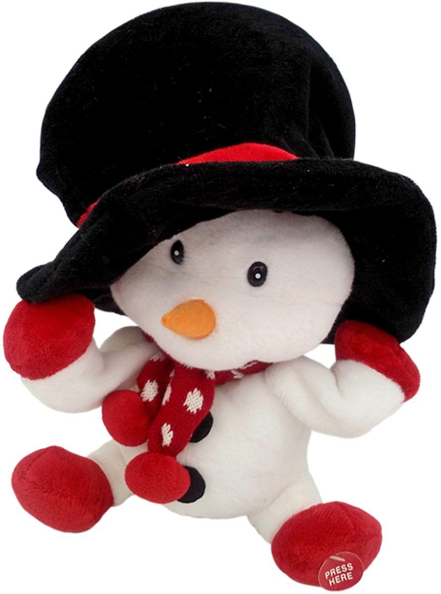 Lapa House Мягкая озвученная игрушка Снеговичок в шляпе 29 см lapa house мягкая озвученная игрушка собака вид 2 26 см