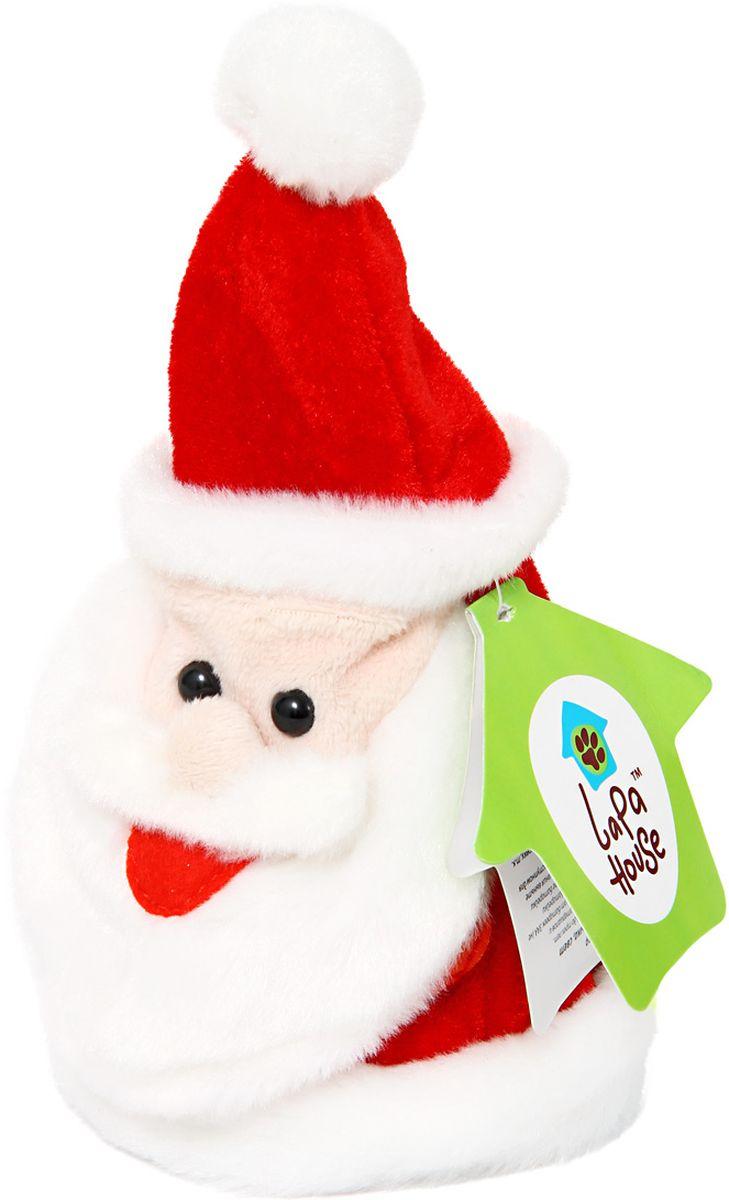 Lapa House Мягкая озвученная игрушка Санта 19 см