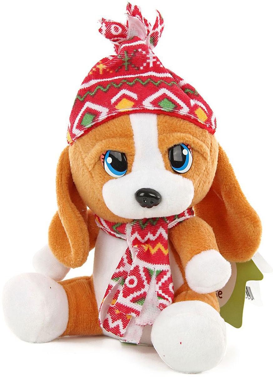 Lapa House Мягкая игрушка Пес в шапке 16 см