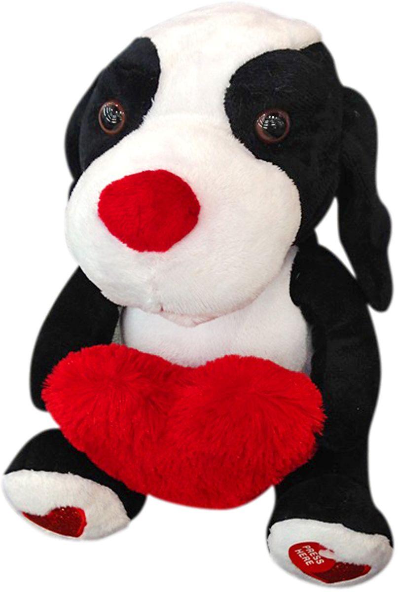 Lapa House Мягкая озвученная игрушка Собачка с сердечком 28 см малышарики мягкая игрушка собака бассет хаунд 23 см