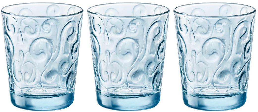Набор стаканов Bormioli Rocco Наос Вода , цвет: голубой, 3 шт. 530335Q02321990
