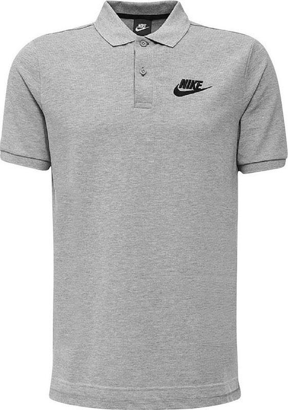 Поло мужское Nike M Nsw Polo Pq Matchup, цвет: серый. 829360-063. Размер XL (52/54)829360-063Мужская футболка-поло Nike Sportswear изготовлена из натурального хлопка. Поло с отложным воротником и короткими рукавами застегивается спереди на пуговицы. По бокам имеются небольшие разрезы. Модель в легендарном стиле украшена свежими деталями.